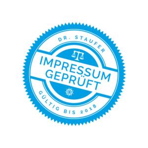 Designery - Rechtssicheres Impressum - Dr. Staufer - Anwalt für Medizinrecht